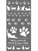 Šablóna 12 x 25 cm - Mačací dar
