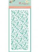 Šablóna 12 x 25 cm - Lístky