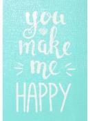 Šablóna 14,7x21cm - You make me happy