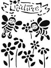 Šablóna 15 x 20 - včielky