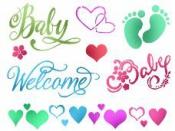 Šablóna 15 x 20 - Welcome baby