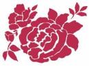 Šablóna 15 x 20 - ruža