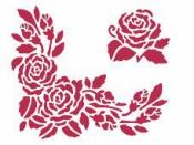 Šablóna 15 x 20 - bordúra ruža