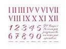Šablóna 15 x 20 - arabské a rímske číslice