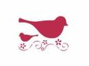 Šablóna 15 x 20 - vtáčik