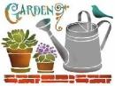Šablóna 15 x 20 - záhrada