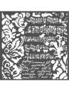 Šablóna 18 x 18 cm - Tapeta Fantasy
