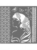 Šablóna 18 x 18 cm - Lady