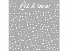 Šablóna 18 x 18 cm - Let it snow