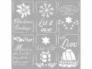 Šablóna 18 x 18 cm - Vianočné štítky