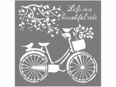 Šablóna 18 x 18 cm - Život je krásna jazda