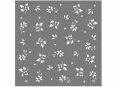 Šablóna 18 x 18 cm - Kvety