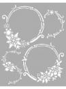 Šablóna 20 x 25cm - Vianočné kruhy