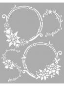 Šablóna 20 x 25 - Vianočné kruhy