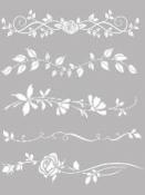 Šablóna 20 x 25 - Girlandy ruže