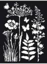 Šablóna 20 x 25 - lúčne kvety