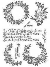 Šablóna 21 x 29,7cm - Love