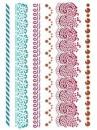 Šablóna 21 x 29,7cm - Ornamenty čipka
