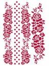 Šablóna 21 x 29,7cm - Ornamenty ruže