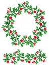 Šablóna 21 x 29,7cm - Vianočný veniec