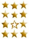 Šablóna 21 x 29,7cm - Hviezdy