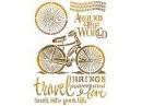 Šablóna 21 x 29,7cm - Bike around the world