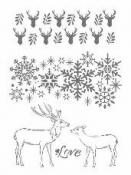 Šablóna 21 x 29,7cm - Vianoce I
