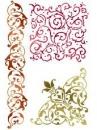 Šablóna 21 x 29,7cm - Bordúra a ornamenty
