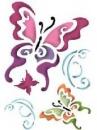Šablóna 21 x 29,7cm - ornamentálne motýle