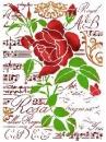 Šablóna 21 x 29,7cm - Ruža a hudba