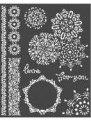 Šablóna 20 x 25cm - Mandala love