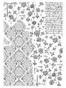 Šablóna 21 x 29,7cm - Ruže a ornamenty