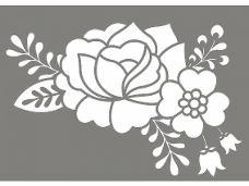 Šablóna A4 - kvety ľudový motív