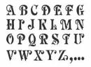 Šablóna 15 x 20 cm - abeceda