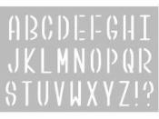 Šablóna 10x15cm - abeceda - veľké písmená
