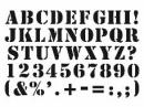 Šablóna 10x15cm - abeceda a čísla