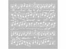Šablóna 18 x 18 cm - Hudba