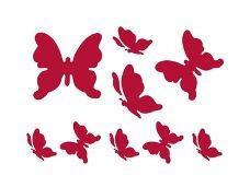 Šablóna 15 x 20 - motýle