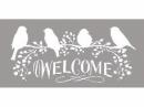Šablóna 12 x 25 cm - Welcome