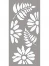 Šablóna 12 x 25 cm - Kvety
