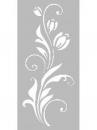 Šablóna 12 x 25 cm - Kvet