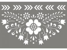 Šablóna 10 x 15 cm - ľudový motív