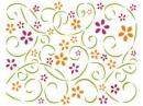 Šablóna 15 x 20 - ornamenty kvety