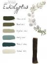 Sada akrylových farieb 6 ks - edícia Eukalyptus