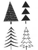 Sada drevených vianočných pečiatok - 4ks