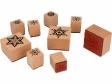 Sada drevených vianočných pečiatok - vločky