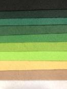 Sada filcov 1 mm A4 - 10 ks -  greeny