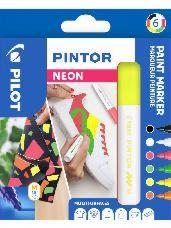 Sada fixiek Pilot PINTOR - Neon - 6ks