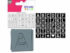 Šablóna abeceda 6 cm - sada 30 ks