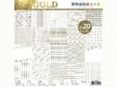 Sada scrapbookových papierov - Foil Gold